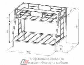двухъярусная кровать Гранада размеры