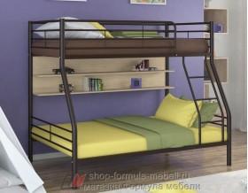 двухъярусная кровать Гранада-2 П цвет коричневый / дуб молочный