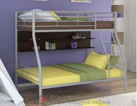 двухъярусная кровать Гранада-2 П цвет серый / венге
