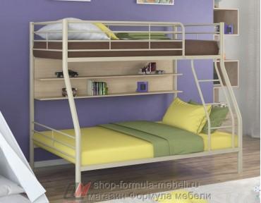 двухъярусная кровать Гранада-2 П цвет бежевый / дуб молочный