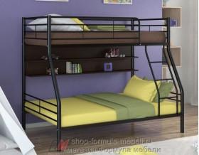 двухъярусная кровать Гранада-2 П цвет чёрный / дуб молочный