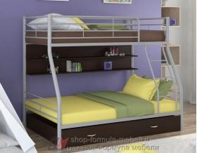двухъярусная кровать Гранада-2 ПЯ цвет серый / венге