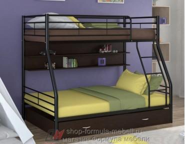двухъярусная кровать Гранада-2 ПЯ цвет чёрный / венге