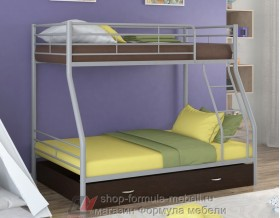 двухъярусная кровать Гранада-2 Я цвет серый / венге