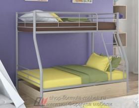 двухъярусная кровать Гранада-2 Я цвет серый / дуб молочный