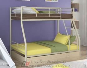 двухъярусная кровать Гранада-2 Я цвет бежевый / дуб молочный Формула мебели