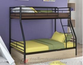 двухъярусная кровать Гранада-2 Я цвет чёрный / дуб молочный