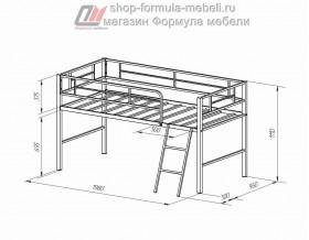 кровать чердак Севилья-мини размеры