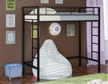 кровать чердак Севилья 1/1 цвет чёрный, Формула мебели