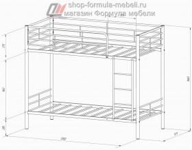 двухъярусная кровать Севилья-3 размеры
