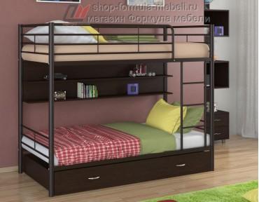 двухъярусная кровать Севилья-3 ПЯ цвет коричневый / венге, Формула мебели