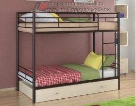 двухъярусная кровать Севилья-3 Я цвет коричневый / дуб молочный, Формула мебели