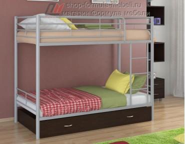 двухъярусная кровать Севилья-3 Я цвет серый / венге, Формула мебели
