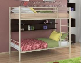 двухъярусная кровать Гранада-3 П цвет бежевый / венге, Формула мебели