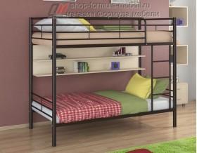 двухъярусная кровать Гранада-3 П цвет коричневый / дуб молочный, Формула мебели