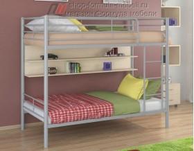 двухъярусная кровать Гранада-3 П цвет серый / дуб молочный, Формула мебели