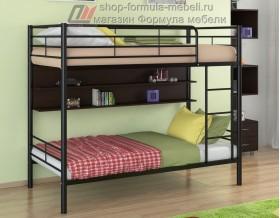 двухъярусная кровать Гранада-3 П цвет чёрный / венге, Формула мебели
