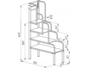 лестница для кроватей из металла размеры