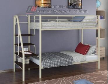 двухъярусная кровать Толедо цвет слоновая кость / венге