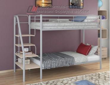 двухъярусная кровать Толедо цвет серый / дуб молочный
