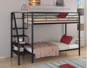 двухъярусная кровать Толедо цвет чёрный / венге