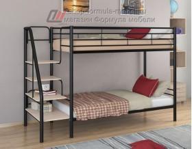 двухъярусная кровать Толедо цвет чёрный / дуб молочный