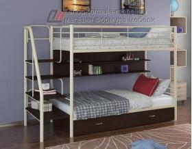 двухъярусная кровать Толедо ПЯ цвет слоновая кость / венге