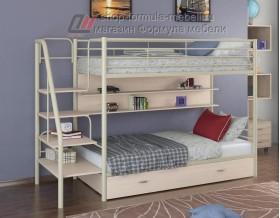 двухъярусная кровать Толедо ПЯ цвет слоновая кость / дуб молочный
