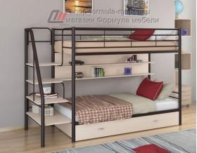 двухъярусная кровать Толедо ПЯ цвет коричневый / дуб молочный