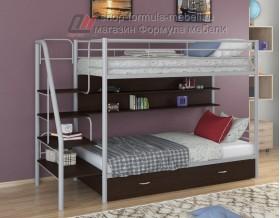 двухъярусная кровать Толедо ПЯ цвет серый / венге, Формула мебели