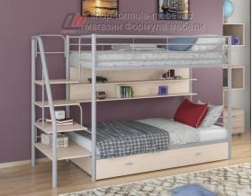 двухъярусная кровать Толедо ПЯ цвет серый / дуб молочный