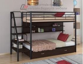 двухъярусная кровать Толедо ПЯ цвет чёрный / венге