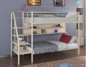 двухъярусная кровать Толедо П цвет слоновая кость / дуб молочный, Формула мебели