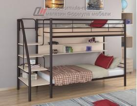 двухъярусная кровать Толедо П цвет коричневый / дуб молочный