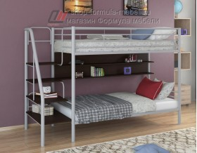двухъярусная кровать Толедо П цвет серый / венге