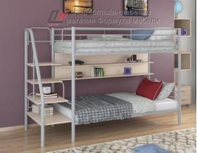 двухъярусная кровать Толедо П цвет серый / дуб молочный