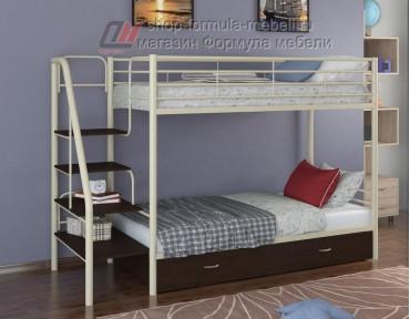 двухъярусная кровать Толедо Я цвет слоновая кость / венге, Формула мебели