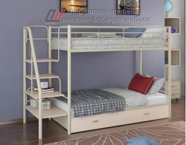 двухъярусная кровать Толедо Я цвет слоновая кость / дуб молочный