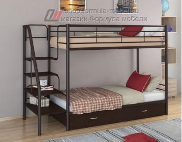 двухъярусная кровать Толедо Я цвет коричневый / венге