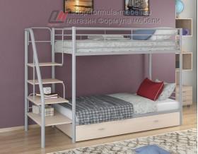 двухъярусная кровать Толедо Я цвет серый / дуб молочный