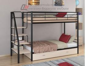 двухъярусная кровать Толедо Я цвет чёрный / дуб молочный
