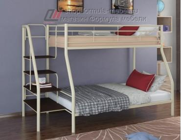 двухъярусная кровать Толедо-1 цвет слоновая кость / венге