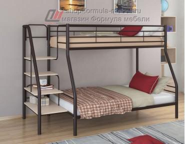двухъярусная кровать Толедо-1 цвет коричневый / дуб молочный