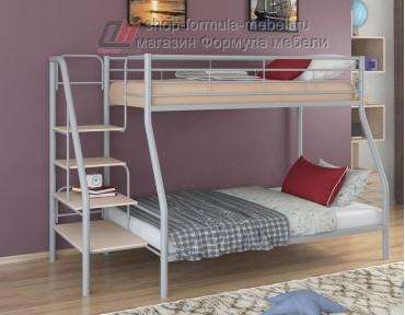 двухъярусная кровать Толедо-1 цвет серый / дуб молочный