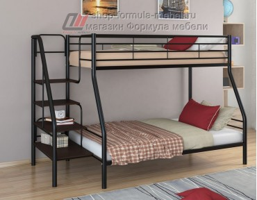 двухъярусная кровать Толедо-1 цвет чёрный / венге