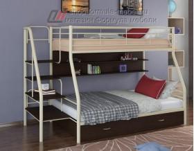 двухъярусная кровать Толедо-1 ПЯ цвет слоновая кость / венге