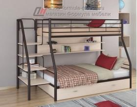 двухъярусная кровать Толедо-1 ПЯ цвет коричневый / дуб молочный