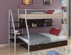 двухъярусная кровать Толедо-1 ПЯ цвет серый / венге