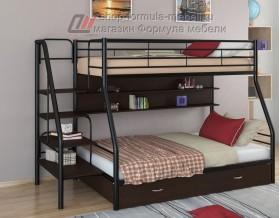 двухъярусная кровать Толедо-1 ПЯ цвет чёрный / венге