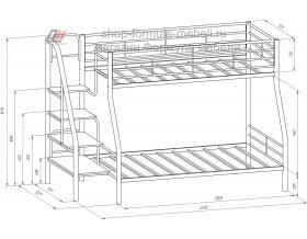 чертёж двухъярусная кровать Толедо-1 размеры
